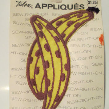 Vintage Sew On Banana Patch from 1971- Never Opened- New Sealed in Original Package