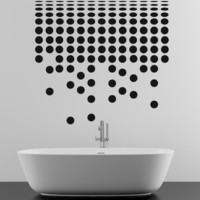 Vinyl Wall Decal Sticker Polka Dot Waterfall #OS_DC777