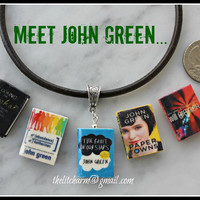 JOHN GREEN The Fault in Our Stars Mini Book Necklace Unisex from Durable Clay U PICK