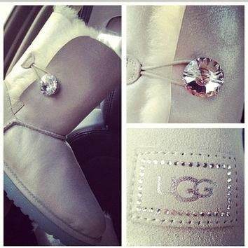 Swarovski Crystal Ugg Boots by Lenorasboutique on Etsy