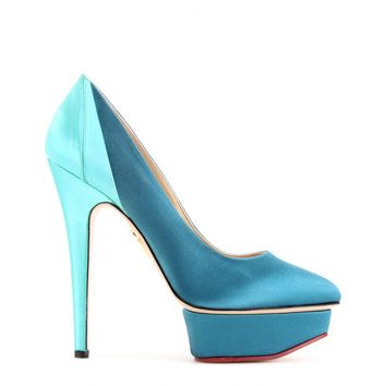 MASAKO SATIN PLATFORM PUMPS