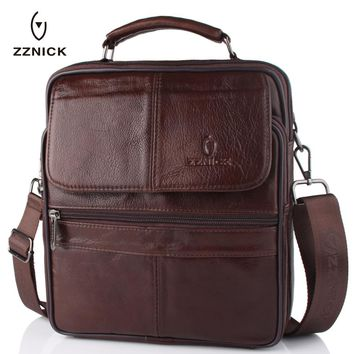 2017 New Style Men Genuine Leather Messenger Bag Male Cowhide Leather Cross body Shoulder Bag Vintage Design Men Bags Briefcase