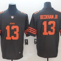 Cleveland Browns #13 Odell Beckham Jr Color Rush Limited Jersey Brown