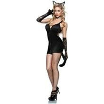 Seven Til Midnight Womens Bad Kitty Halloween Party Dress Costume
