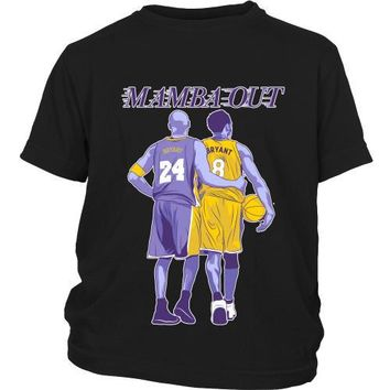 kobe bryant mamba out youth shirt  number 1