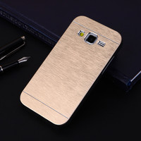 Luxury Metal Brush Aluminum Phone Case PC Hard Back Cover Slim Sleeve For Samsung Galaxy Core Prime G361F G361H G360 G360F G360H