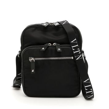 Black Nylon Crossbody Bag by Valentino