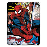 Spiderman - Spider Origins  Micro Raschel Blanket (46in x 60in)