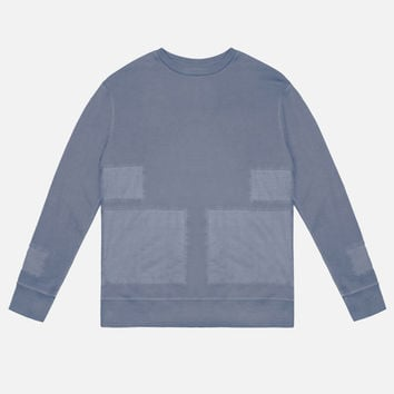 Paneled LS Crew / Navy