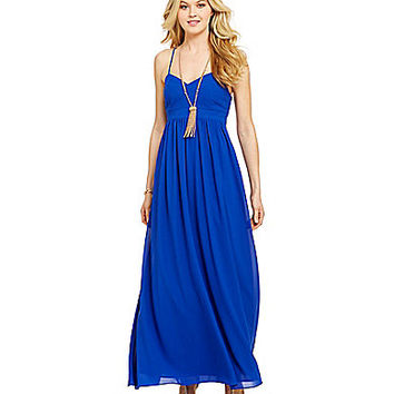 Belle Badgley Mischka X-Back Maxi Dress