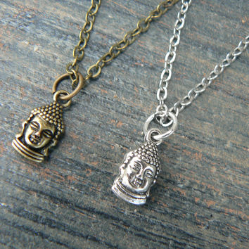 best friends necklace SET of TWO Yoga necklace Buddha necklaces pendant necklaces