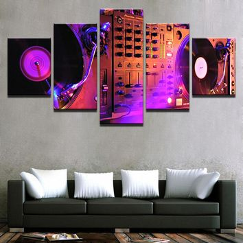 Picture On Canvas Modular Decoration Posters Wall Art Home Frame 5 Panel Music Living Room HD Modern Painting Printed
