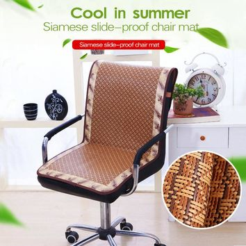 Rattan Slide-proof Chair Cushion Summer Cooling Chair Cover for Office Chair Plaid Dustproof Chair Mats High Quality 1PC