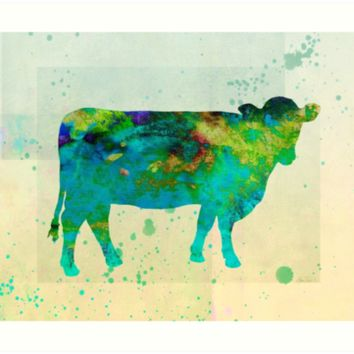 The Painted Cow - cow art by art64
