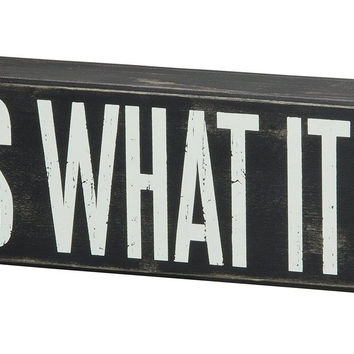 Primitives by Kathy Wood Box Sign 10.5-Inch by 3-Inch What it is