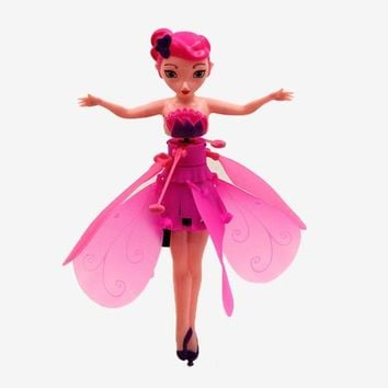 Mjd Toys Gift Fairy Doll Induction Fly Toys Remote Control RC Helicopter Flying Quadcopter Drone Kids Toy Fairy Doll Best Gifts