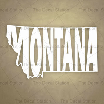 Montana Vinyl Decal Sticker for Car Truck Auto. Word Art . US State Pride.