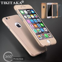 Style201 Cases + Tempered Glass Screen Protector For Iphone 5 5S 0906-82