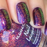 Kleancolor Chunky Holo PURPLE Glitter Nail Polish FREE SHIPPING