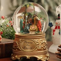 """Peace on Earth"" Nativity Waterglobe"
