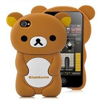 3D Rilakkuma Detachable Hard Case For iPhone 4 and 4S BROWN