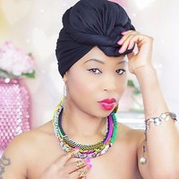 Black Head Wrap - Black Hijab - African Head Wrap - Hijab - Under Scarf - Kente | eBay