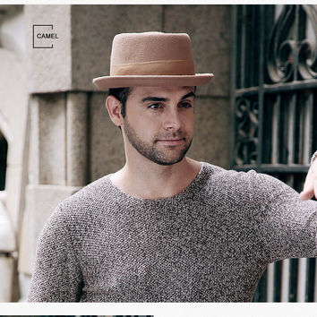 New 2017 Fashion 100% Australia Wool Men's Fedora Hat