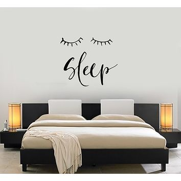 Vinyl Decal Wall Sticker Decor Sleep Close Eyes Dream Bedroom Unique Gift (g084)