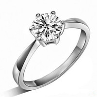 2016 hot sell classic design 925 sterling silver shiny CZ diamond ladies`wedding finger rings jewelry gift