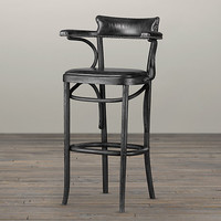 Vienna Cafe Barstool Slate Leather