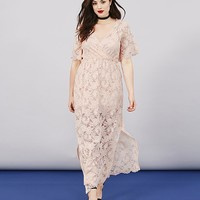 Simply Be Lace Wrap Maxi Dress | SimplyBe US Site