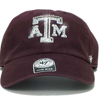 Texas A&M Aggies '47 Brand Adjustable Cap + Custom Swarovski Crystals