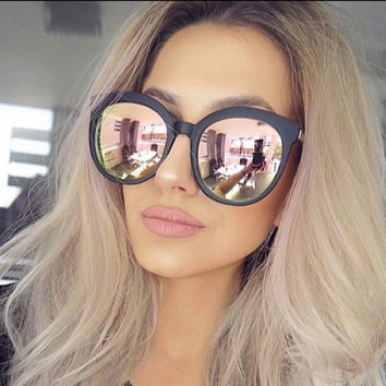Tiffany- Rose Gold Round Mirrored Sunglasses