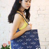 Canvas Shoulder Bag Shark Print