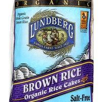 LUNDBERG: Brown Rice Organic Rice Cakes Salt Free, 8.5 oz
