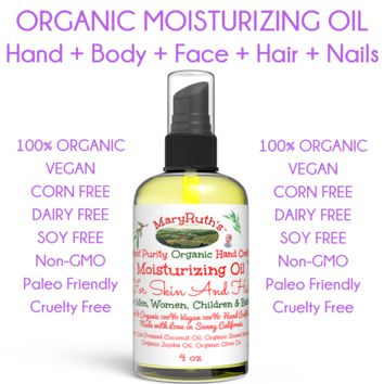 100% Organic Body, Face, Hair & Nail Moisturizing Oil - 4oz
