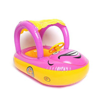 Baby Float Seat Boat Inflatable Ring Adjustable Car Sunshade Swim Pool 2 Colors