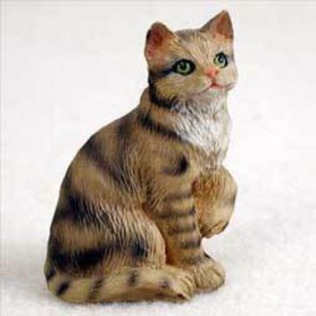 BROWN SHORTHAIRED TABBY TINY ONE FIGURINE