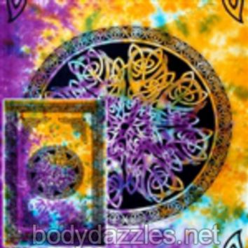Celtic Knot Mandala Tapestries Wall Hanging Bohemian Bed Covering Beach Blanket Great Gift