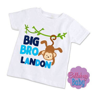 Big Brother Bodysuit or Tshirt - Monkey - Personalized shirt