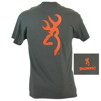 Browning Men's Blaze Orange Buckmark Charcoal Short Sleeve T-Shirt