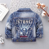 Spring Autumn Children's Jacket Denim Boys Jean Jackets Girls Kids Clothes Baby Coat Casual Outerwear SIZE:90-120