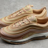 NIKE AIR Max 97 Ul'17 Gold Running Shoes 917704-902