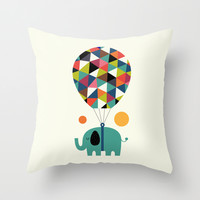 Fly high and dream big Throw Pillow by Andy Westface