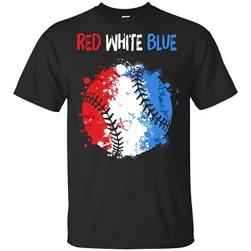 4Th Of July Red White Blue Baseball Lovers Patriotic