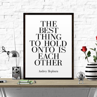 Audrey Hepburn Quote Printable Poster Typography Print Black & White Wall Art Poster Print Love Quote Fashion Quote Fashion Print TYPOGRAPHY