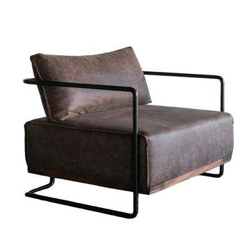 Retro Lazy Iron Art Concise Armchair