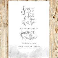 Save the Date Watercolour Watercolor Handwritten font