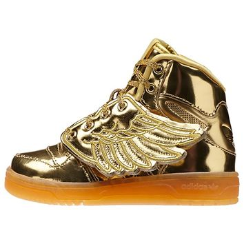JEREMY SCOTT WINGS GOLD MIRROR SHOES