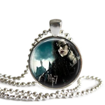 Bellatrix Lestrange Silver Plated Pendant Harry Potter Necklace